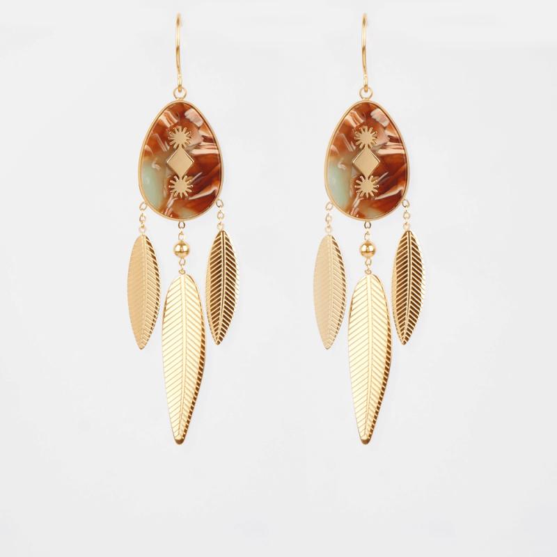 Isis bis gold earrings -...