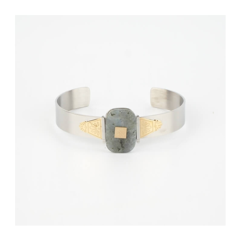Bracelet jonc Azad bicolore...