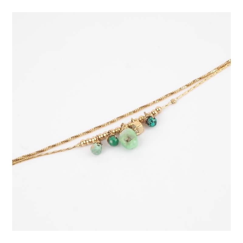 Bracelet Stellia vert en...