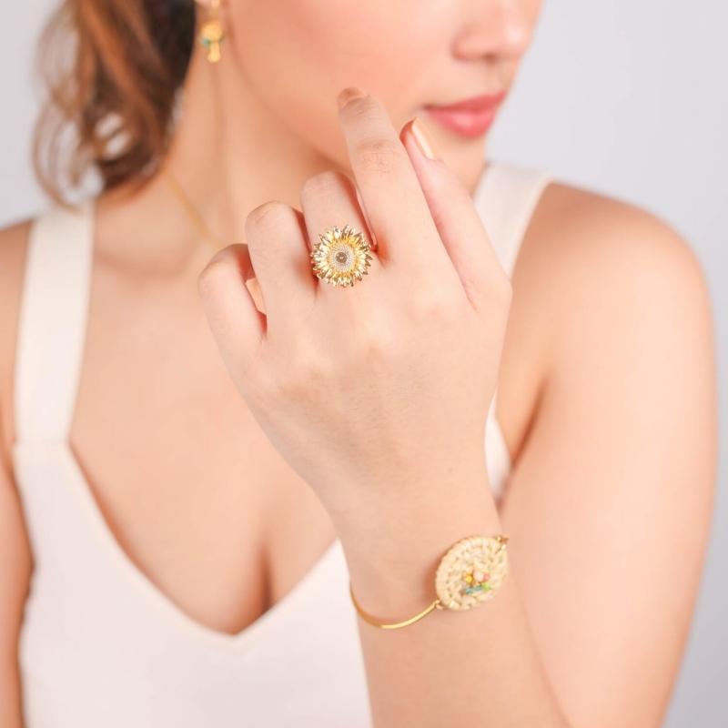 Celeste gold ring - Franck...