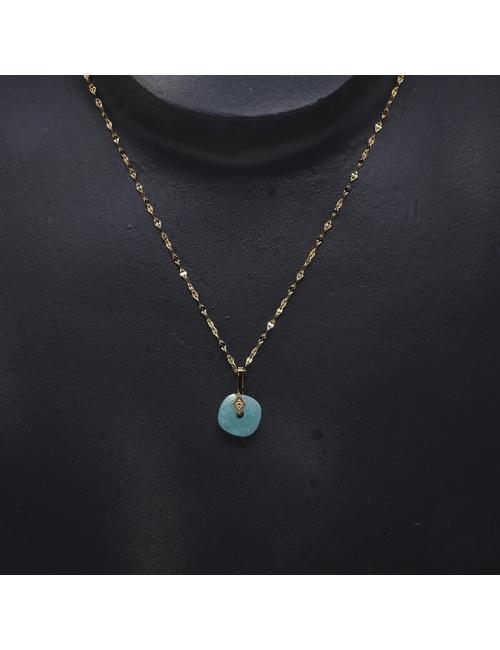 Precious turquoise gold necklace - Zag Bijoux