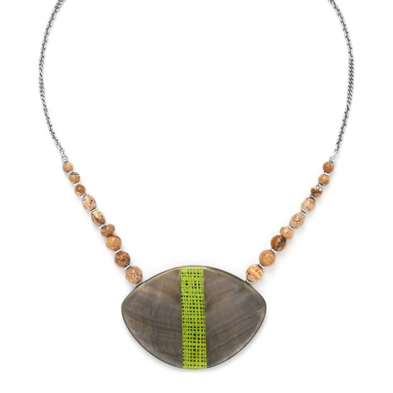 Mambe silver necklace -...