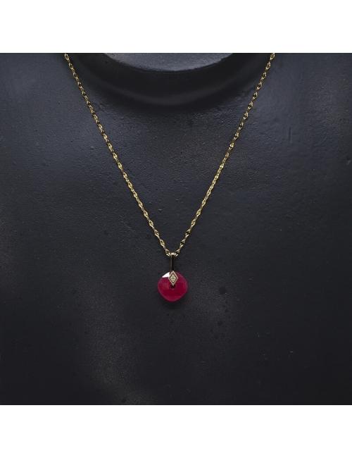 Precious ruby gold necklace - Zag Bijoux