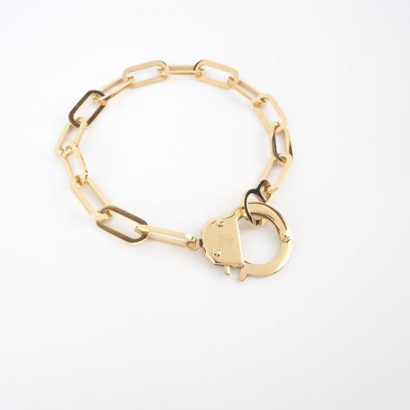 Bracelet Hook en acier or jaune - Zag Bijoux