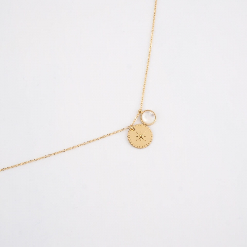 Sand gold necklace - Zag...