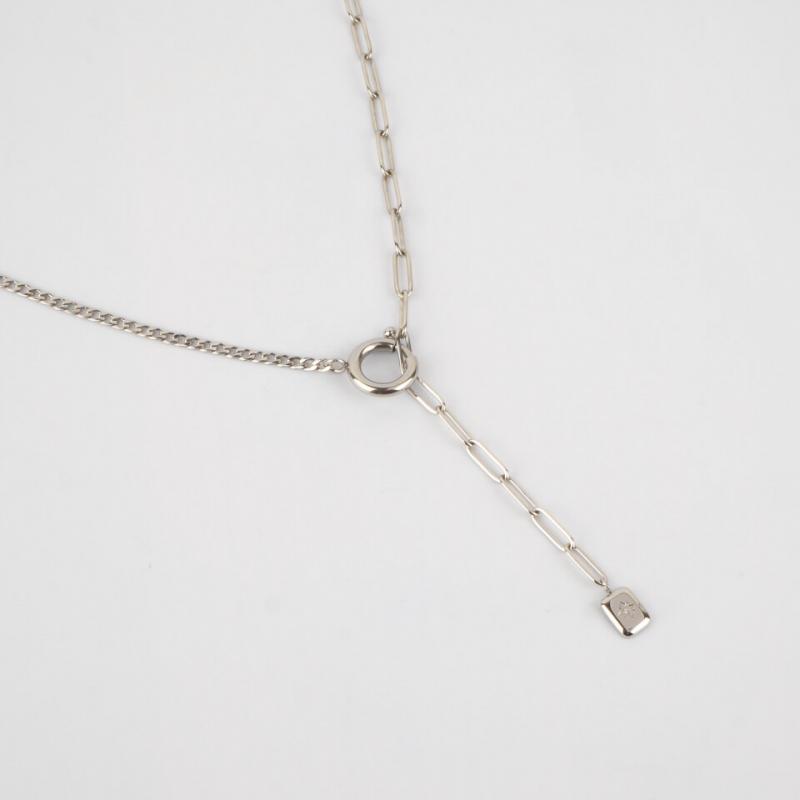 Antonina silver necklace -...