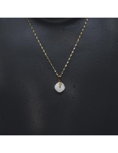 Precious opal gold necklace - Zag Bijoux