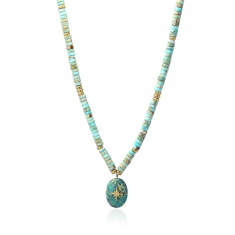 Collier Canberra turquoise...