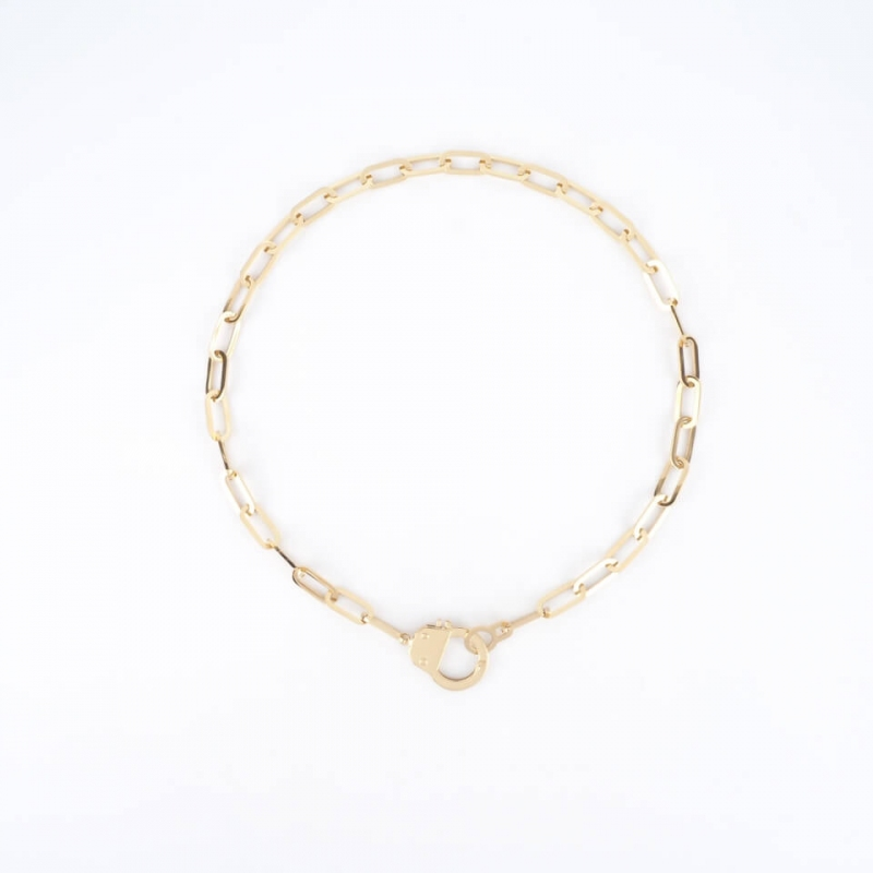 Hook gold necklace - Zag...