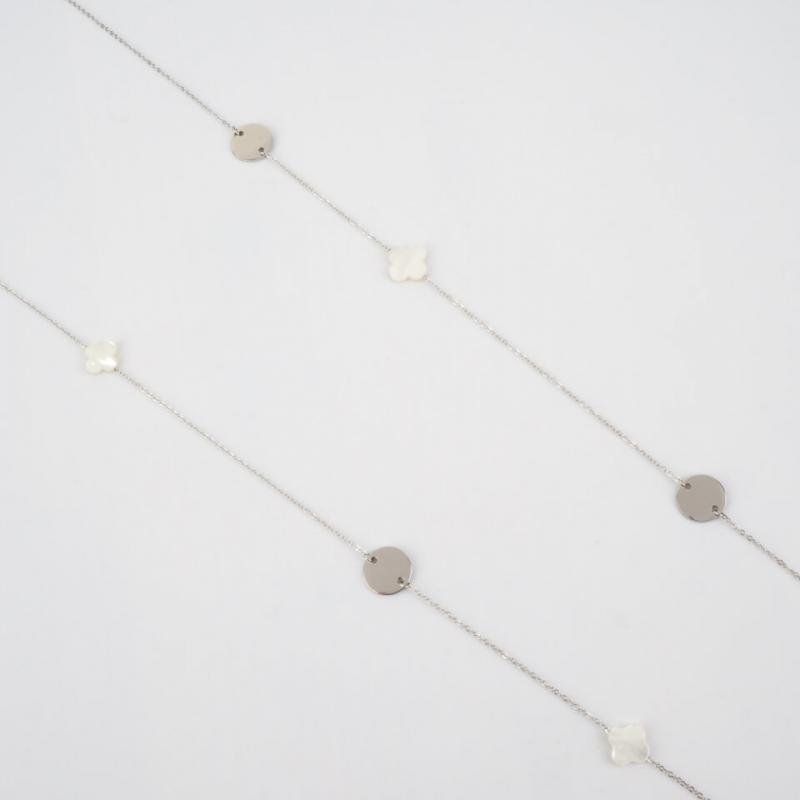 Clover silver long necklace...