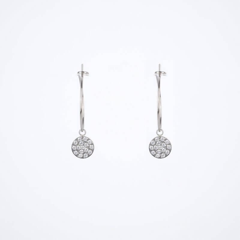 Light silver hoop earrings - Zag Bijoux