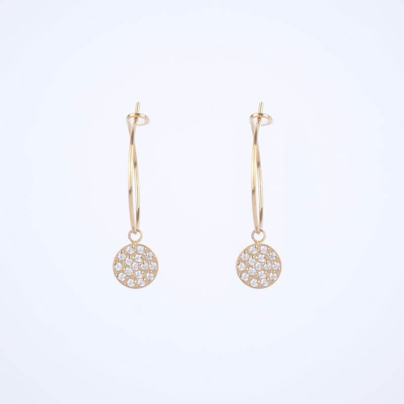 Light gold hoop earrings - Zag Bijoux