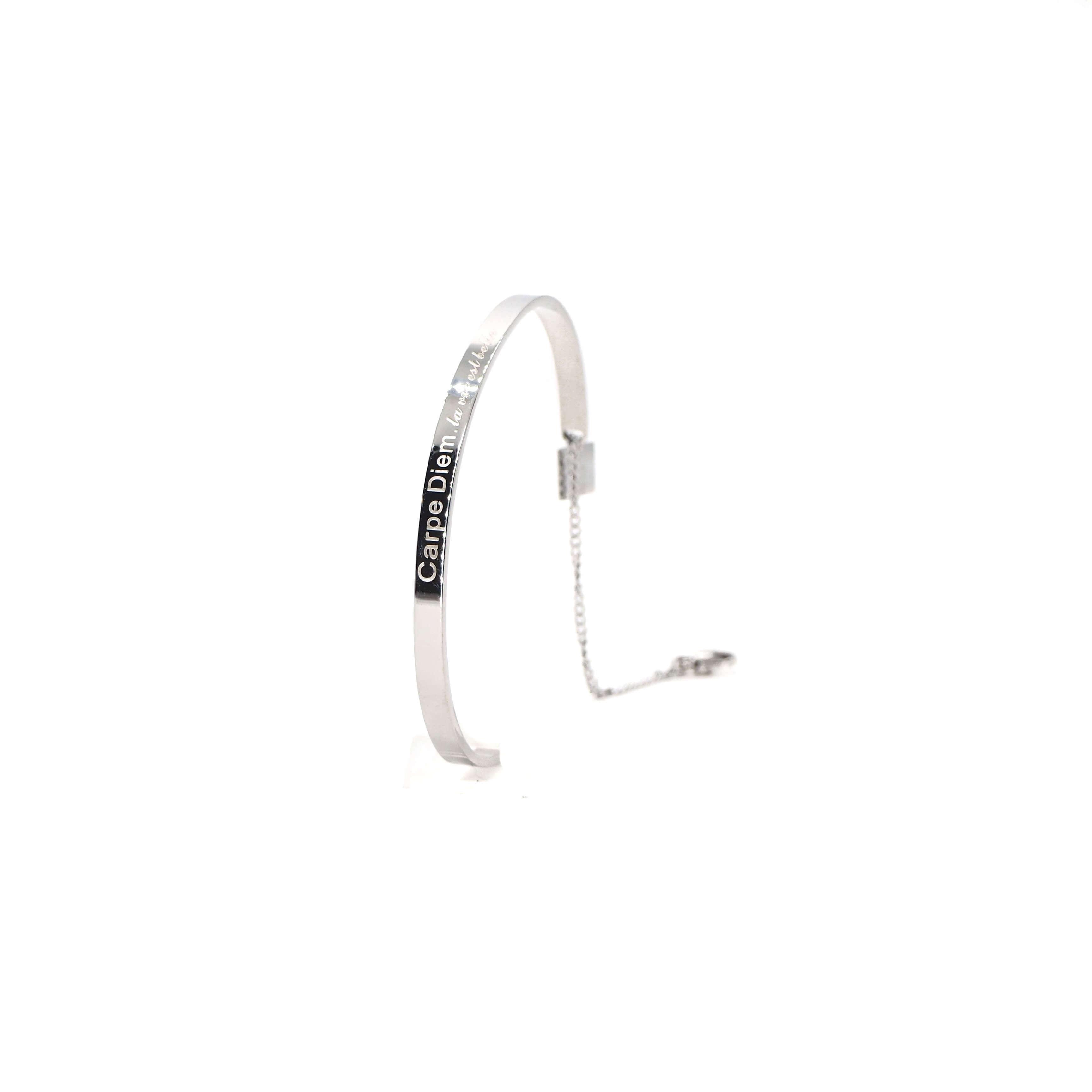 Bracelet jonc Carpe Diem en acier - Zag bijoux