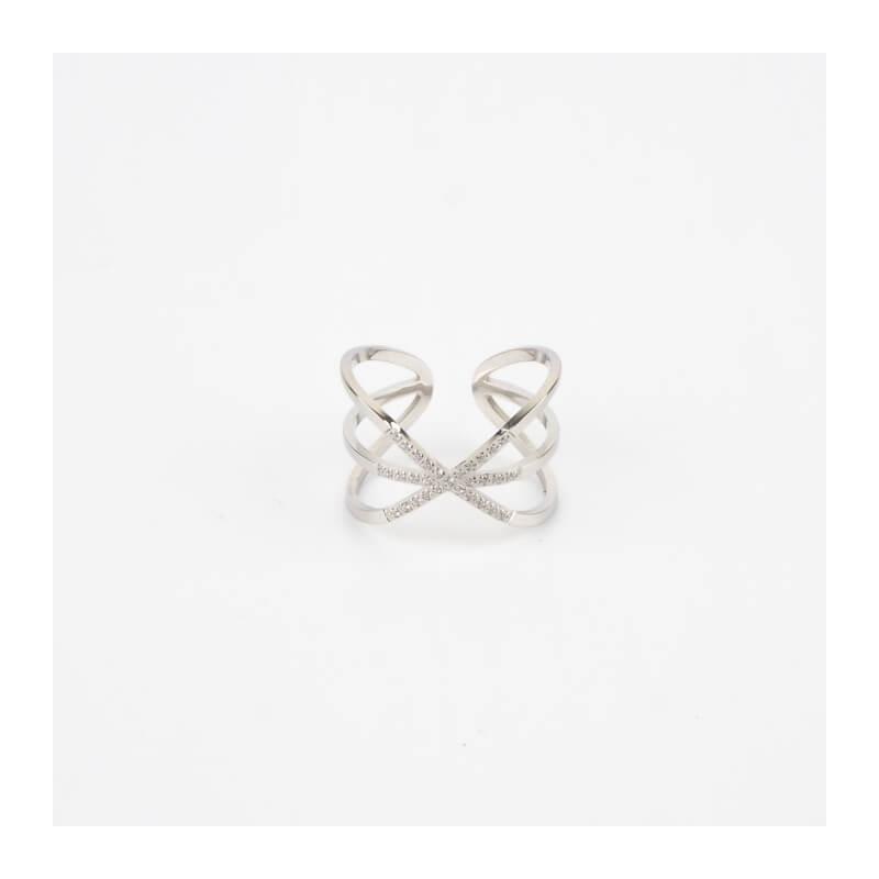 Croisette silver ring - Zag...