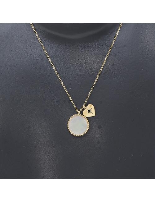 Pastille coeur gold necklace - Zag Bijoux