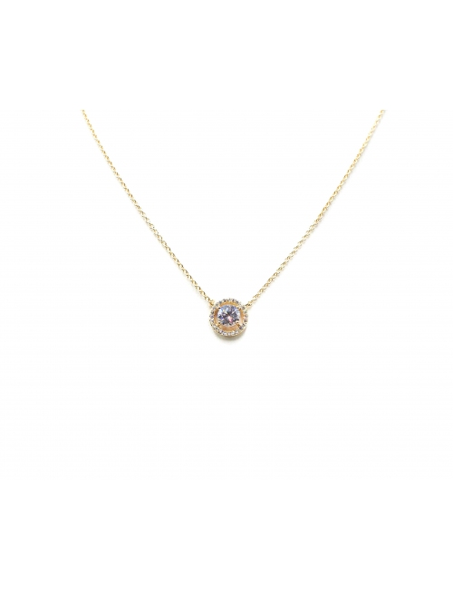 Classico round gold necklace - Pomme Cannelle