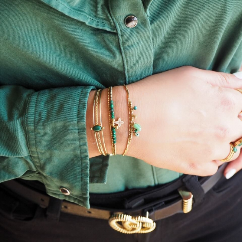 Bracelet Kaleo vert en...