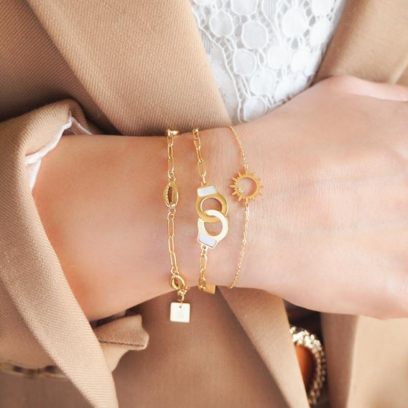 Bracelet Sanaé en acier or...