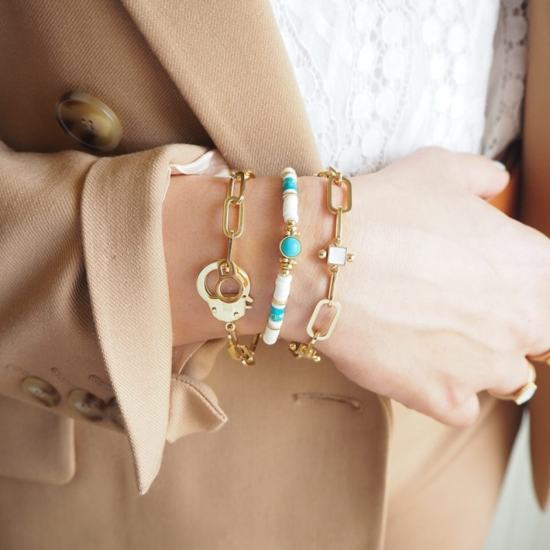 Bracelet Bora en acier or -...