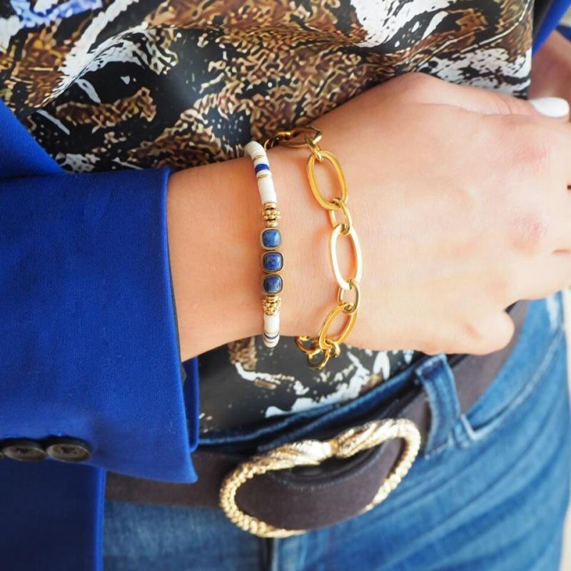 Bracelet Lagon en acier or...