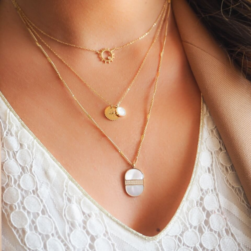 Oursin gold necklace - Zag...