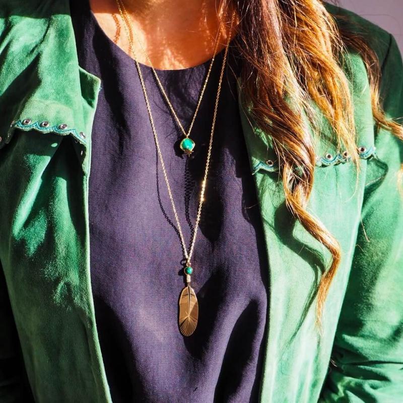 Horizon green gold necklace...
