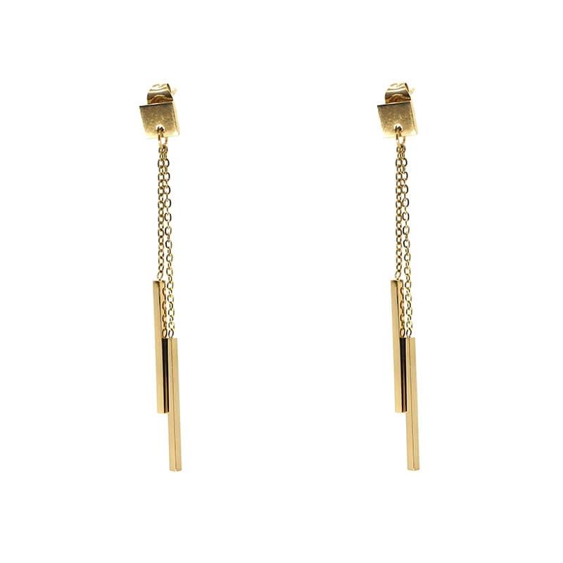 Barrettes gold earrings -...