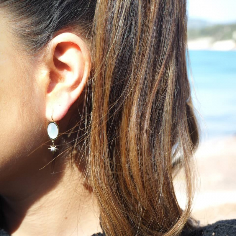 Poly gold earrings - Zag...