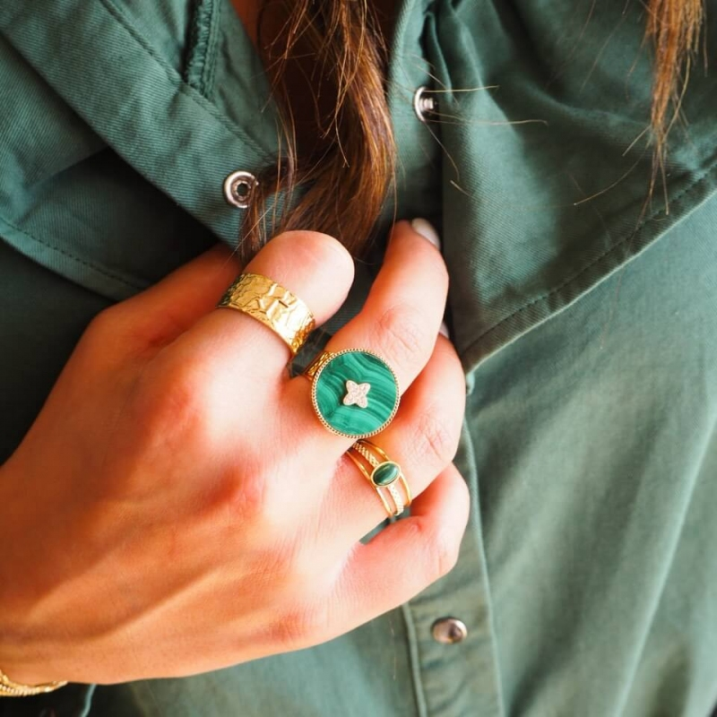 Hera green gold ring - Zag...