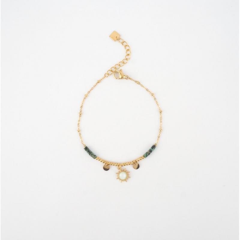 Bracelet Chloénis vert en...