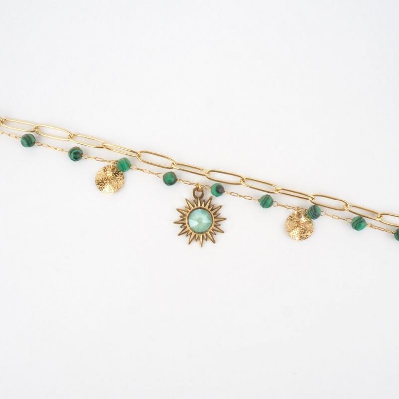 Bracelet Siloé vert en acier - Bohm Paris