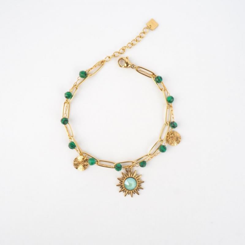 Bracelet Siloé vert en...