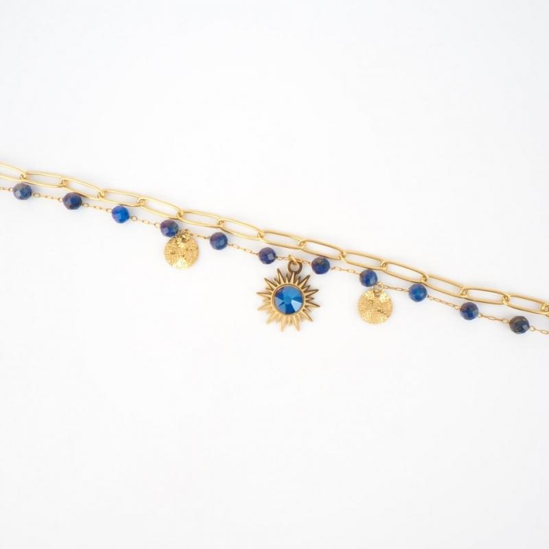 Bracelet Siloé bleu en...