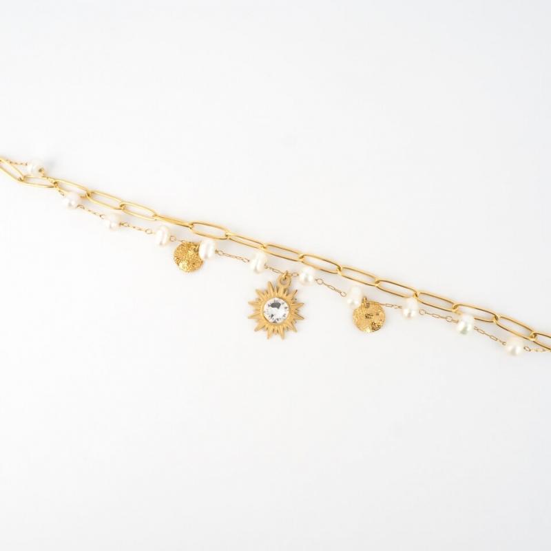 Bracelet Siloé blanc en acier - Bohm Paris