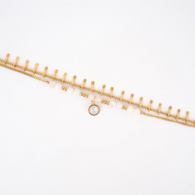 Bracelet Angeli blanc en acier - Bohm Paris