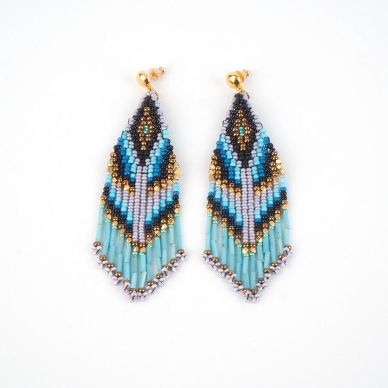 Ulla blue gold earrings -...