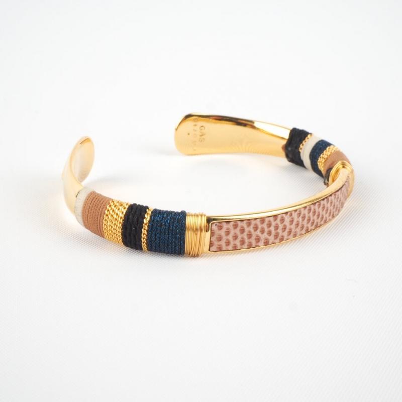 Bracelet jonc Massai or -...