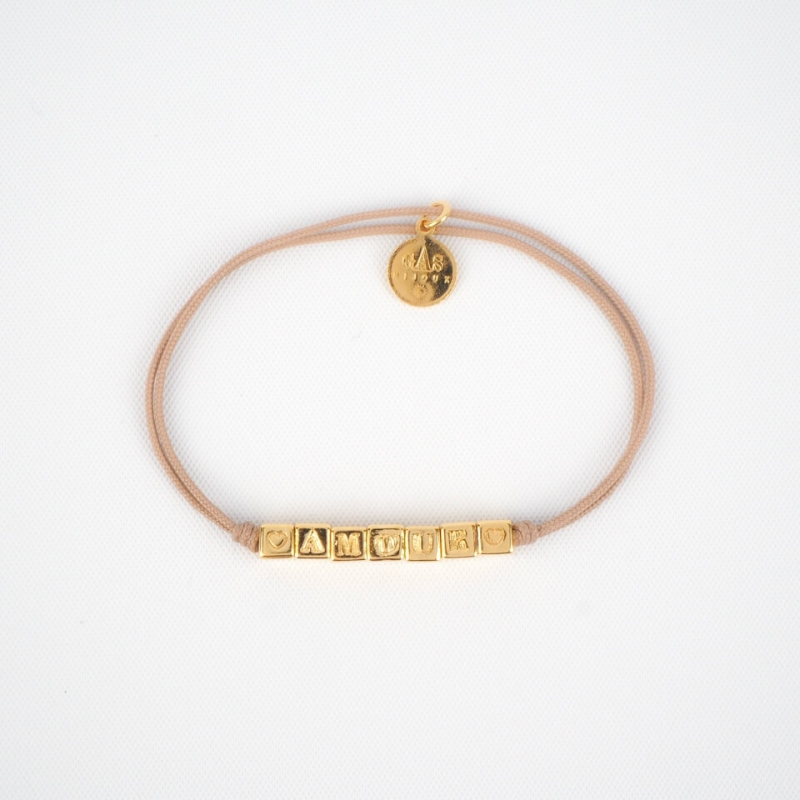 Amour beige gold cord...