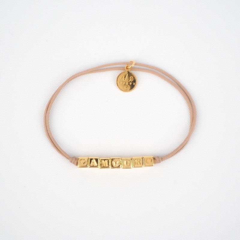 Bracelet lien Amour beige...