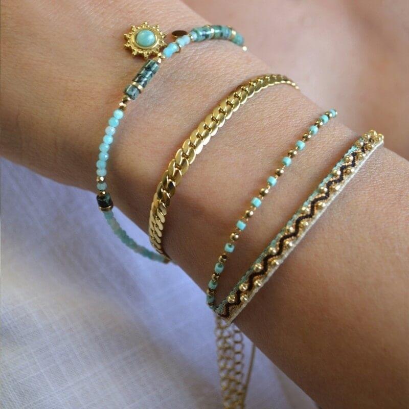 Bracelet Cruz turquoise en...