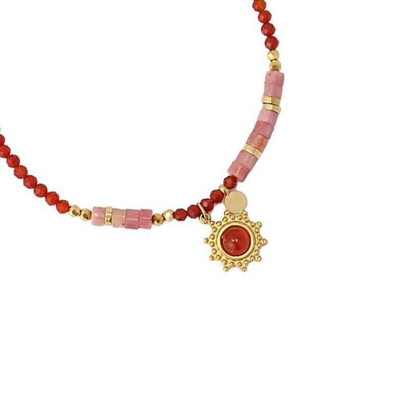 Bracelet Bombay rouge en...