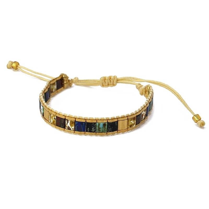 Bracelet Lima bleu en acier...