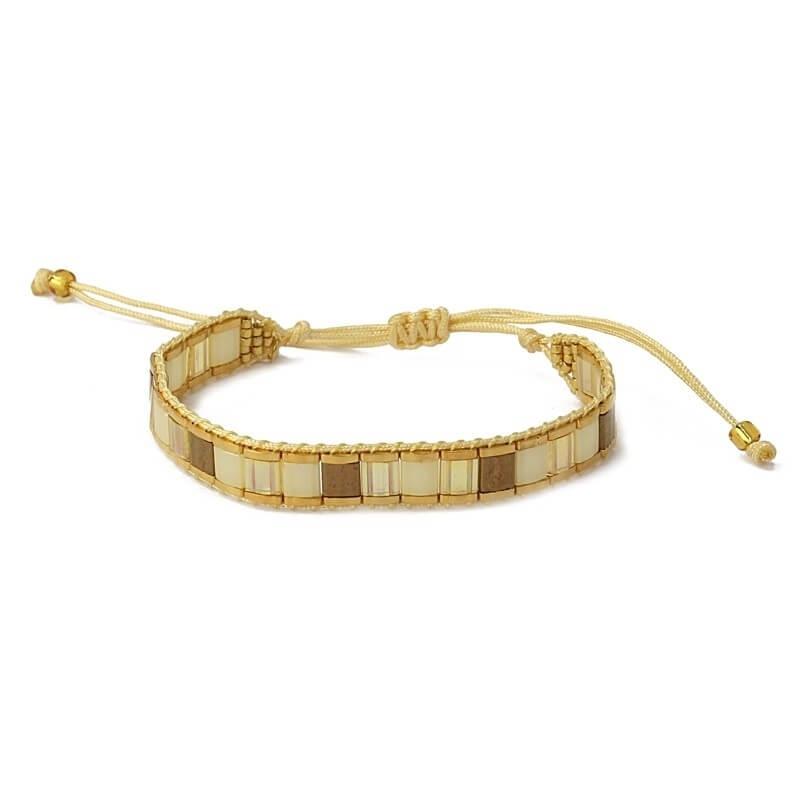 Bracelet Lima beige en...
