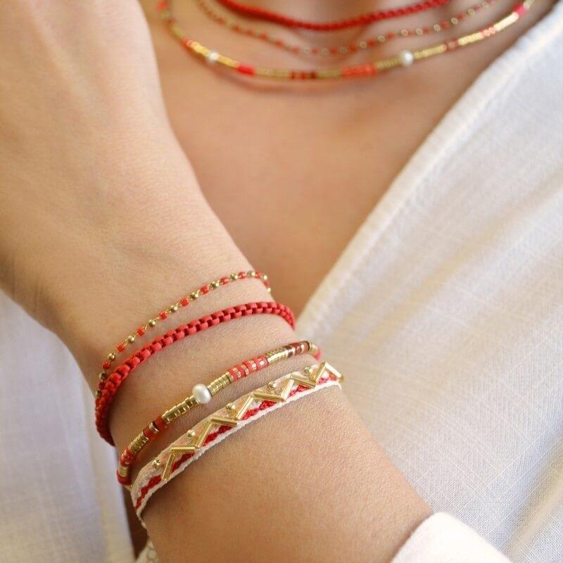 Bracelet Louisiane blanc en...