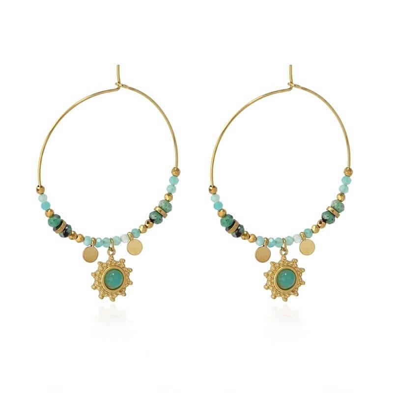 Créoles Bombay turquoises...