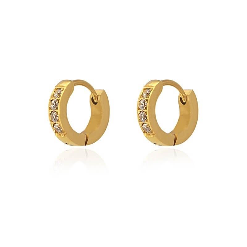 New York S gold hoop earrings - Anartxy