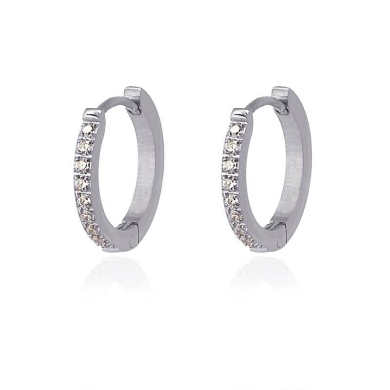New York L silver hoop earrings - Anartxy