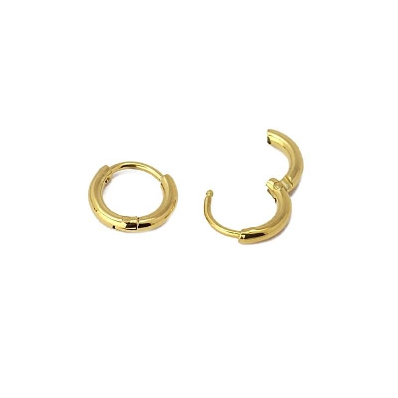 Paris S gold hoop earrings...