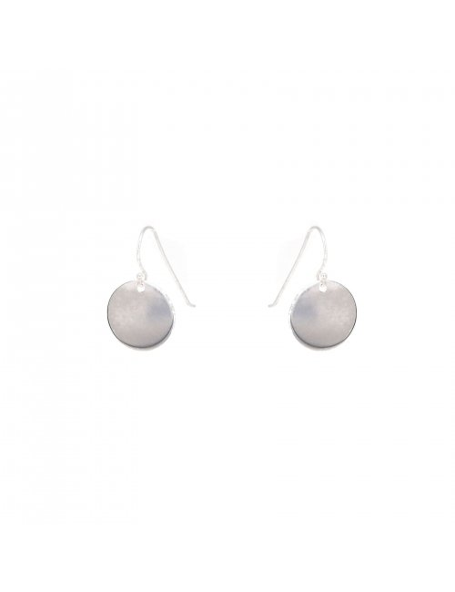 Smooth pastille silver earring - Pomme Cannelle