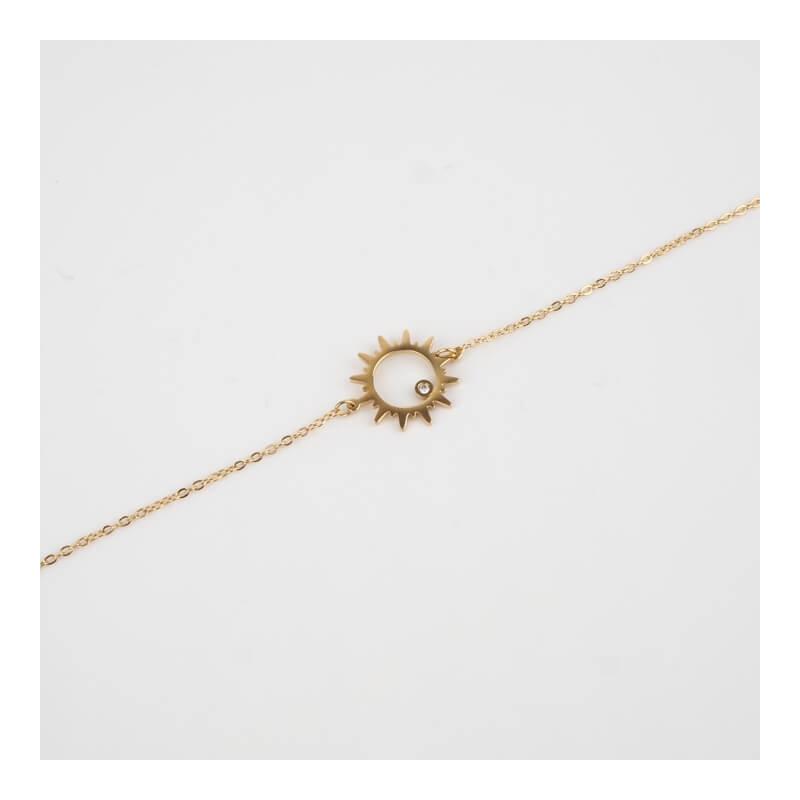 Bracelet Oursin en acier or...